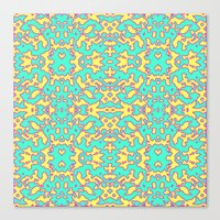 Electric Pattern Canvas Print