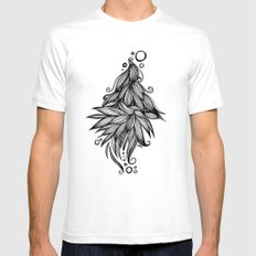 Ornate tangle wave form Mens Fitted Tee White SMALL