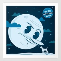 Bark at the moon Art Print