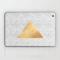 Gold Triangle Print Laptop & iPad Skin