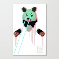 Panda with F$%king Lazers Canvas Print