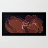 Howling Deer Art Print