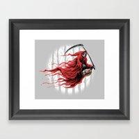 red reaper Framed Art Print