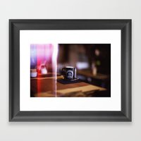 Cup Of Coffee With A Lig… Framed Art Print