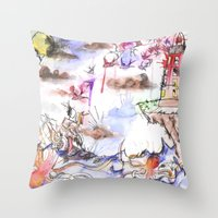 Ship Wrecked Throw Pillow