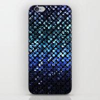 Crystal Bling Strass Blu… iPhone & iPod Skin