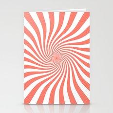 Swirl (Salmon/White) Stationery Cards