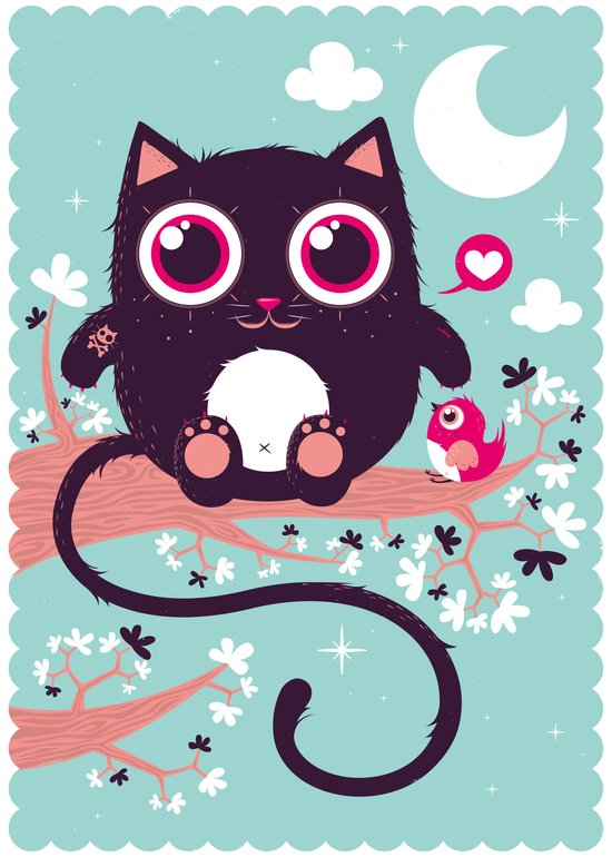 Sweet cat Art Print