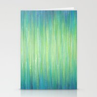 Ombre Aqua Bliss painting Stationery Cards