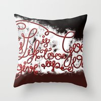 This Life - Red Version Throw Pillow
