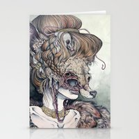 wolf Stationery Cards featuring Vulpes Masquerade, now as a print! by Caitlin Hackett