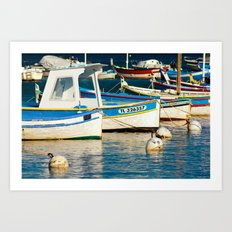 French boats 6971 Art Print