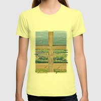 Window To The Luberon Womens Fitted Tee Lemon SMALL