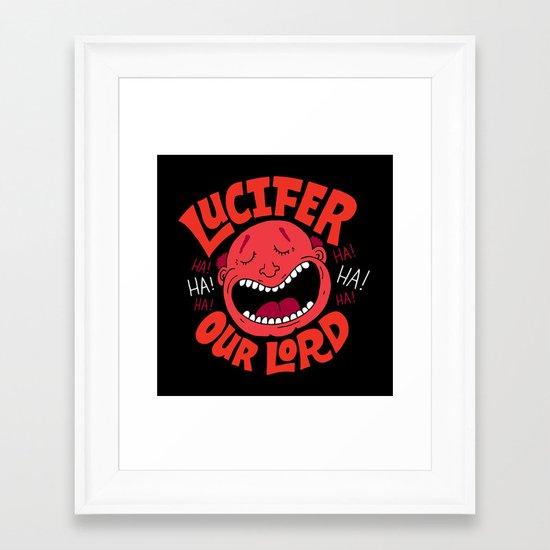 LOL Lucifer Framed Art Print