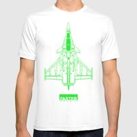 Faster | Speed Electroni… Mens Fitted Tee White SMALL