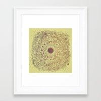 Flower Circle Framed Art Print