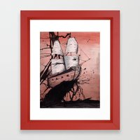 Sea Of Ink Framed Art Print