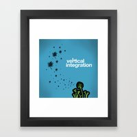 vertical integration Framed Art Print