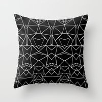 Ab Mirror Black Throw Pillow