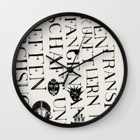 We Face The Type! Wall Clock