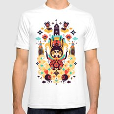 The Secret Key White SMALL Mens Fitted Tee