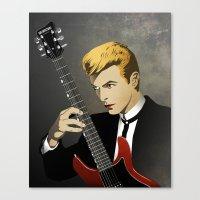 Bowie Portrait Canvas Print