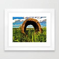 Open Eye Framed Art Print