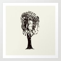 ♥ The Holly Tree ♥ Art Print