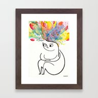 Framed Art Print featuring Inside And Out by Rubyetc