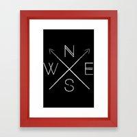 H&S: Directional Framed Art Print