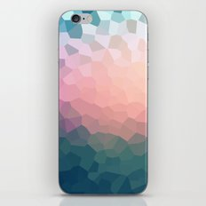 Abstract blue - pink background .  iPhone & iPod Skin