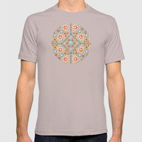 Ditsy Millefiori Pattern Mens Fitted Tee Cinder SMALL