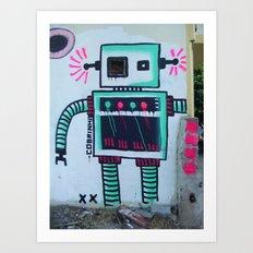 Mr. Roboto Art Print