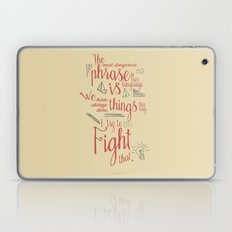 Grace Hopper sentence - I always try to Fight That - Color version Laptop & iPad Skin