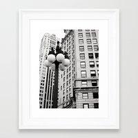 A Chicago Lamp Post Framed Art Print