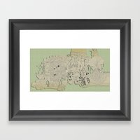 mashup 12 Framed Art Print