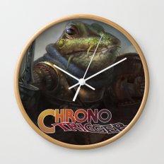 A knightly Frog  Wall Clock