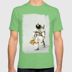 Space Can Be Lonely Mens Fitted Tee Grass SMALL