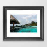 Welcome to paradise Framed Art Print
