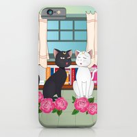 anime iPhone & iPod Cases featuring Anime Cats by MyimagesArt