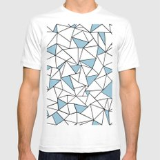 Ab Out Blue Blocks SMALL Mens Fitted Tee White