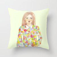 The colourful shirt Throw Pillow