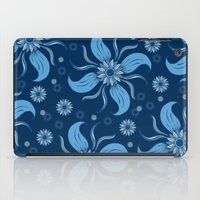 Floral Obscura Dark Blue iPad Case