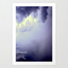 LIGHTNING STRIKES TWICE Art Print