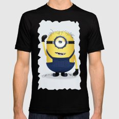 Minion Cute Style Mens Fitted Tee Black SMALL