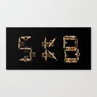 Sk8 Typography Canvas Print