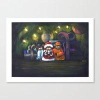 Merry Christmas World Canvas Print