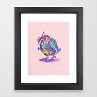 Monster Chick Framed Art Print