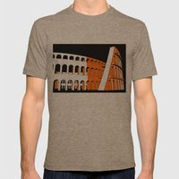 Colosseum Mens Fitted Tee Tri-Coffee SMALL