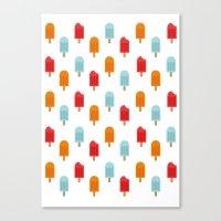 Ice Lollies Pattern Canvas Print